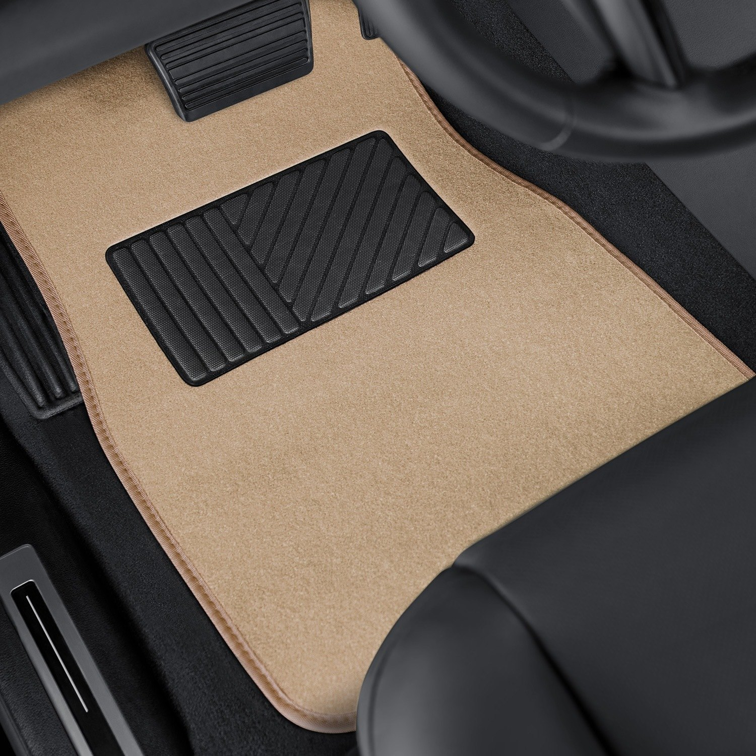 OxGord® - DELUXE Heavy Duty Carpeted Floor Mats with Heel Pad