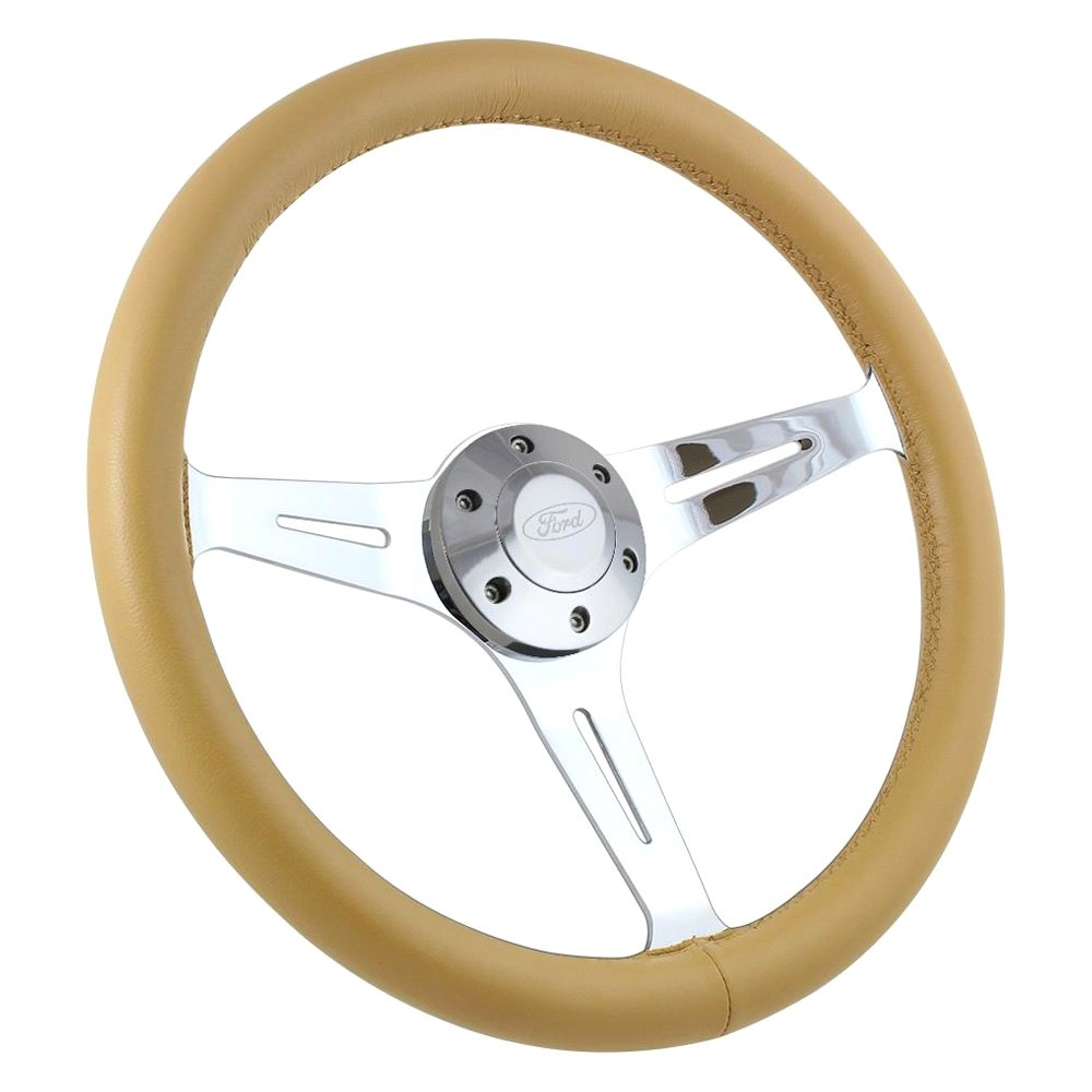 Forever Sharp® - 3-Spoke Empire Steering Wheel with Leather Grip