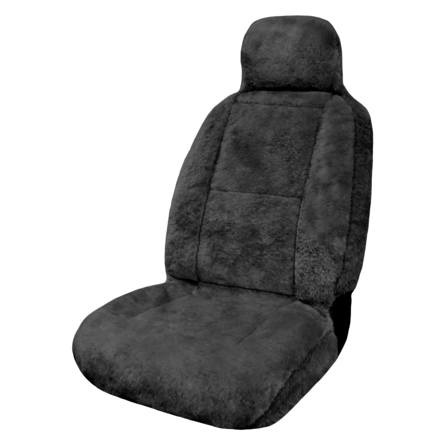 Eurow® - XL Design Premium Pelt Gray Sheepskin Seat Cover