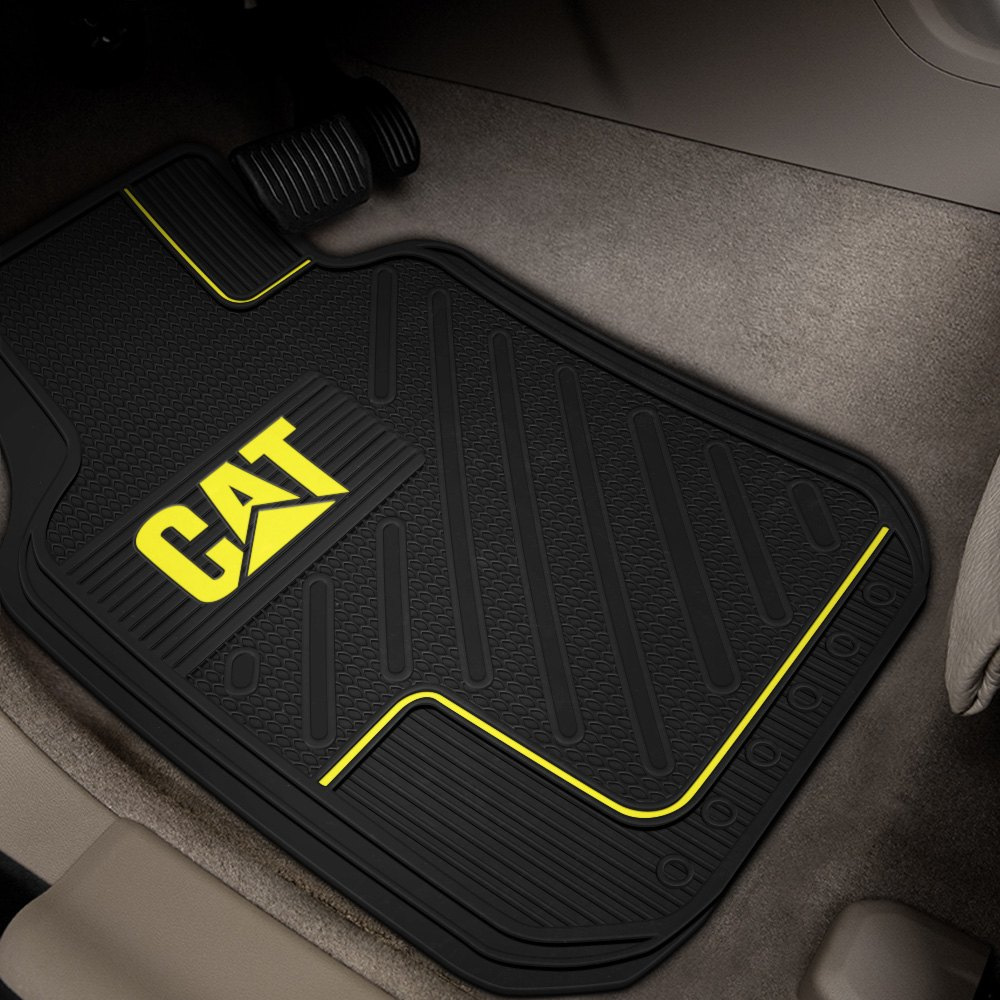 Plasticolor® - Floor Mats with Yellow CAT Logo